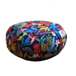 zafu coussin de meditation multicolore tropical fabrication française