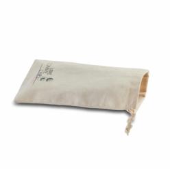 pochon de protection et de transport en coton beige avec logo de la marque